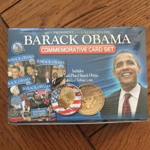 Obama card set with 24K coin